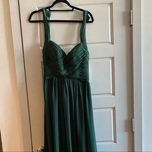 KF Bridal Hunter Green Chiffon Bridesmaid Dress- 8